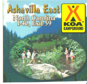 Asheville East KOA – Black Mountain and Swannanoa, North